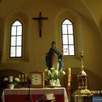 Wnętrze odnowionego kościoła przy zamku Świny